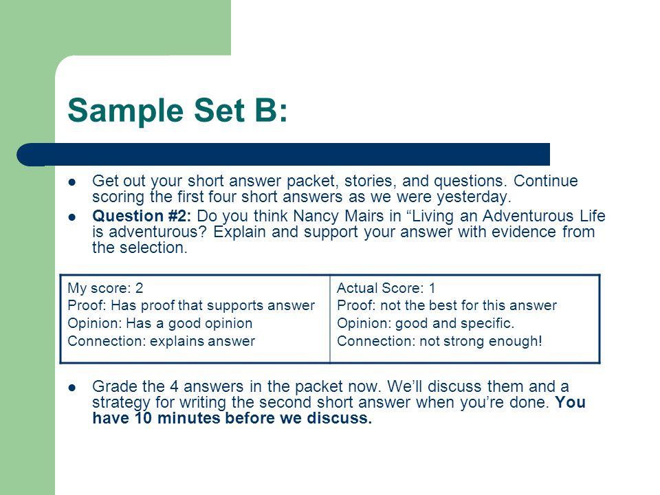 Buysat model essays