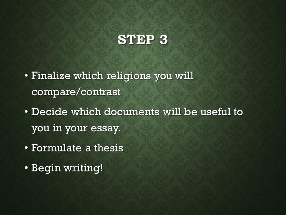 Religion essay