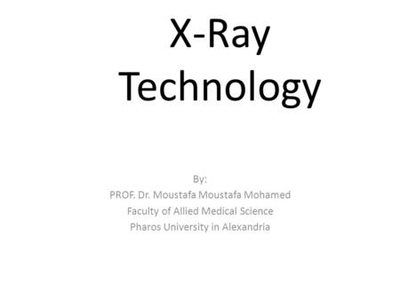 Manual X-Ray Film Processing and Developing
