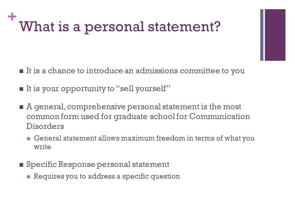 Personal Statement Examples - GradSchoolscom