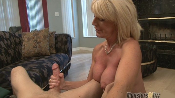 Handjob mature woman