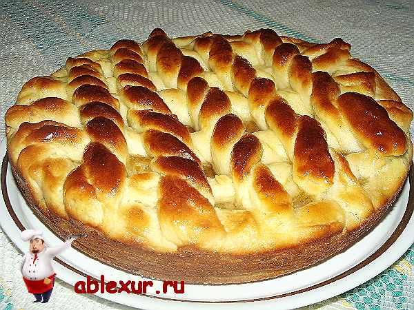 Пирог с яблочным повидлом рецепт быстро