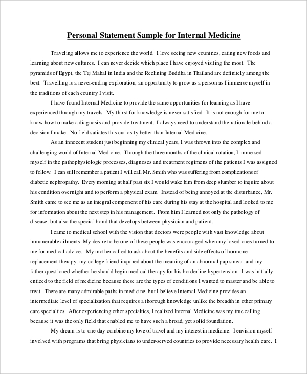 Personal Statement - Undergraduate Research and
