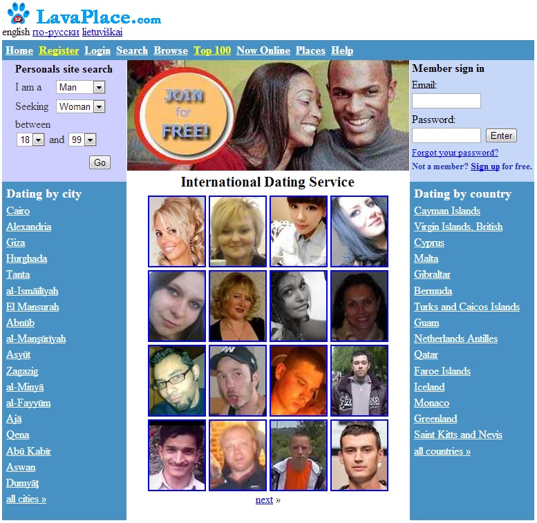 One-Page Signup - 100% Free Online Dating Site