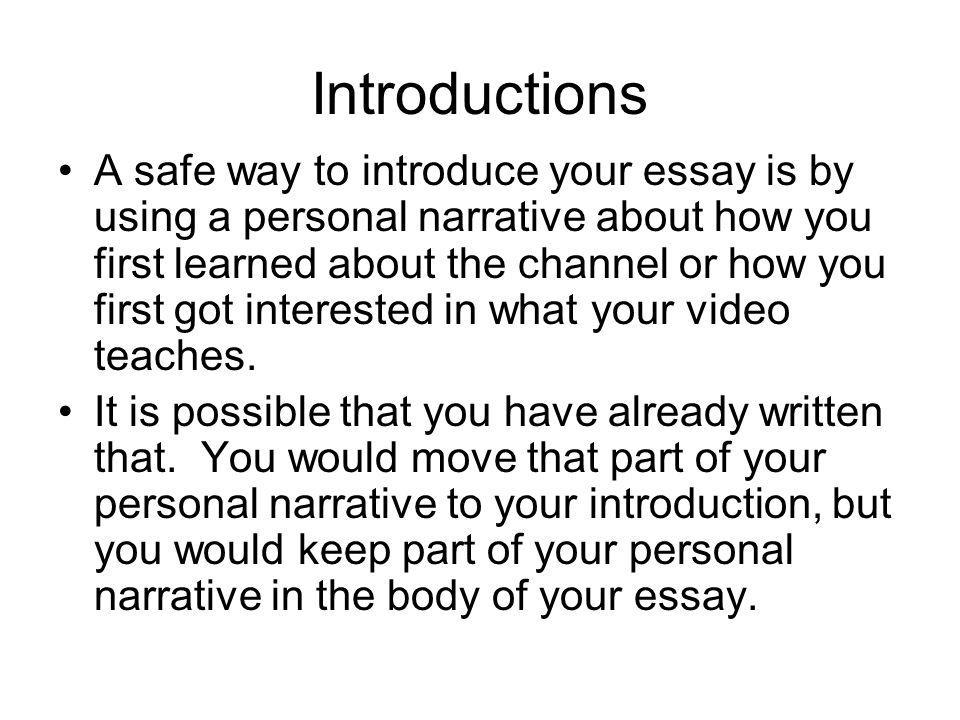 Unit 1 How to Write an Introduction - UPV/EHU