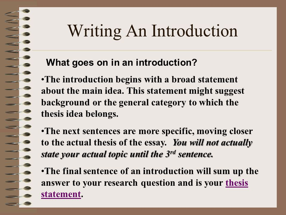 Write my sample introduction in thesis