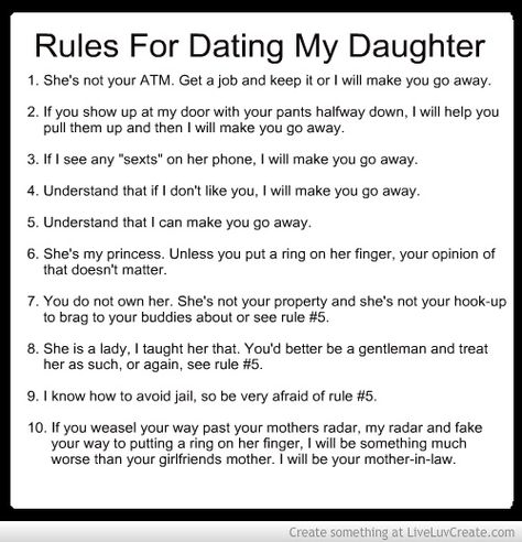 Rules for dating my daughter christian