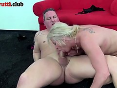 Blowjob and forced oral creampie bathroom