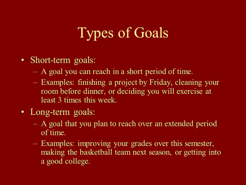 short term goal and long term goal for it professional