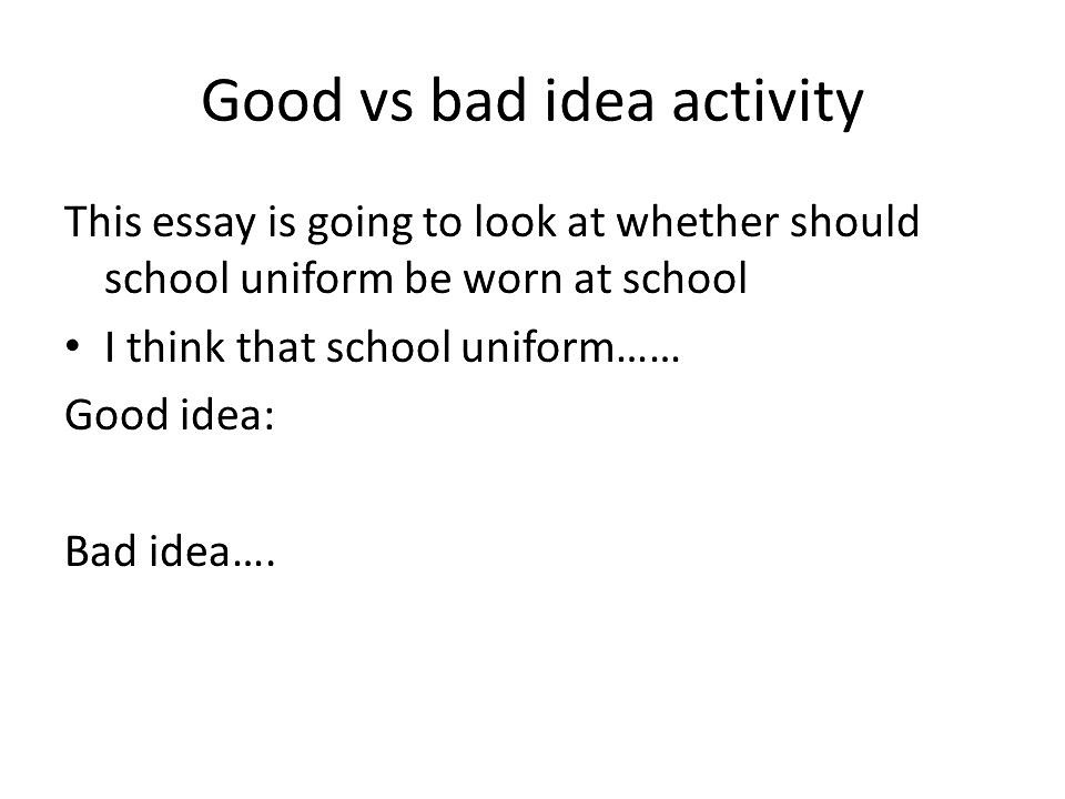 why school uniforms are bad essay