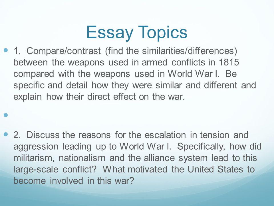 Buy compare contrast essay topics