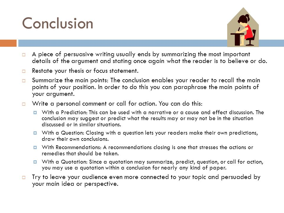 persuasive writing essay conclusion