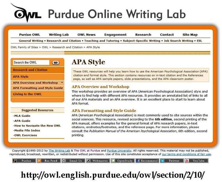 Write my owl apa purdue