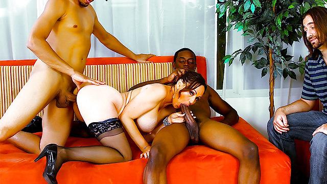 Cfnm girls teasing erect penis