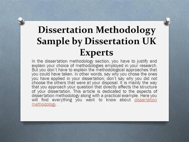 Sample dissertation methodology