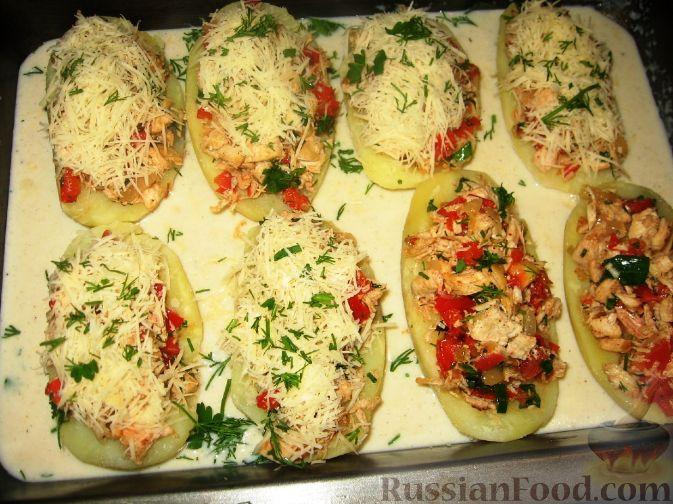 Картошка запеченная начинкой рецепт фото