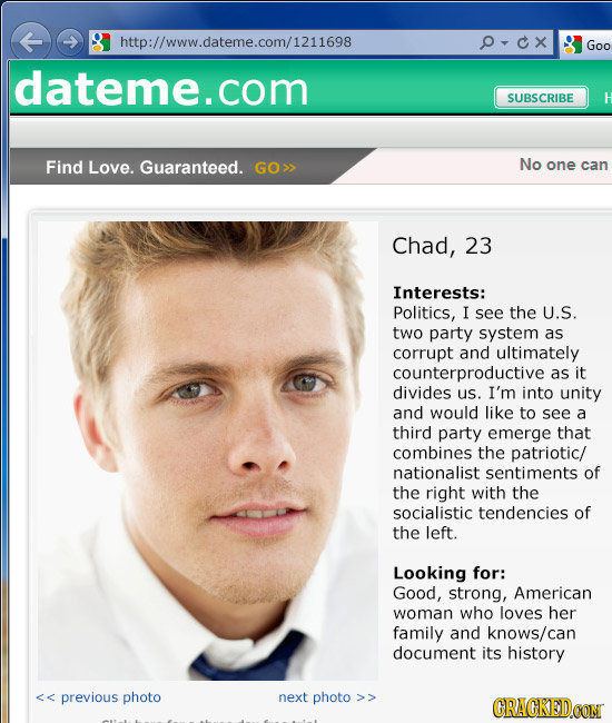 Internet dating description examples