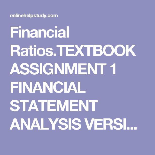 Write my financial statement analysis assignment