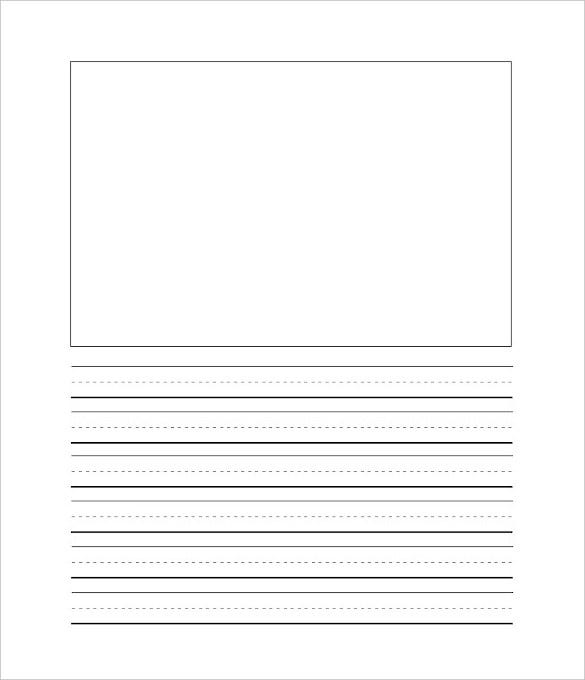 2nd grade lined writing paper template