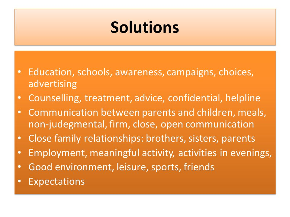 addiction solution essay Find out more from our addiction essay samples give suggestions pay only for approved parts addiction essay sample - types of internet addictions.