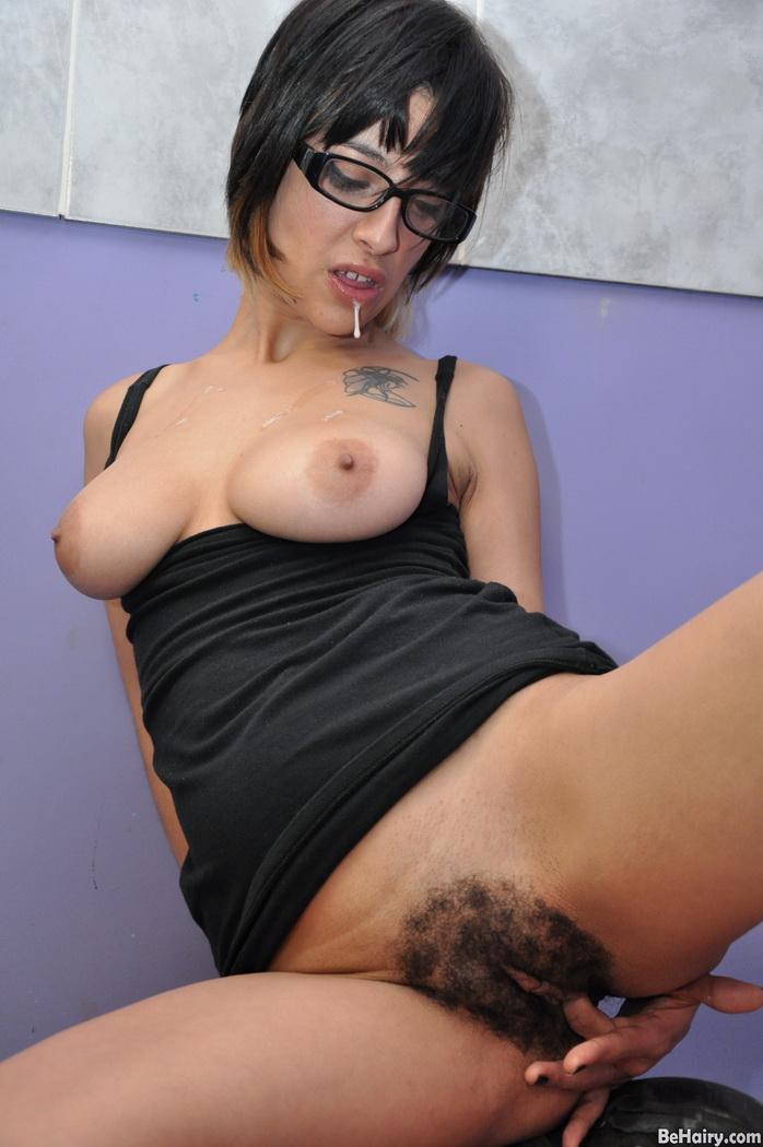 Brunette pussy bush hairy