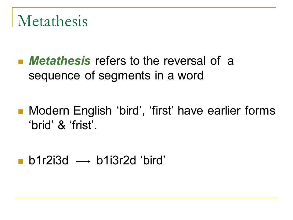 Metathesis Linguistics