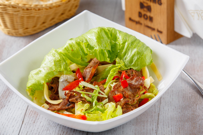 Ресторан Smoking Don - фотография 17 - Стейк салат/Stake salad