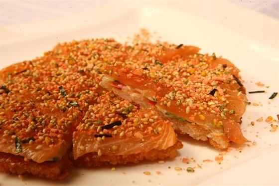 Ресторан Sumosan - фотография 18 - Японская пицца с лососем