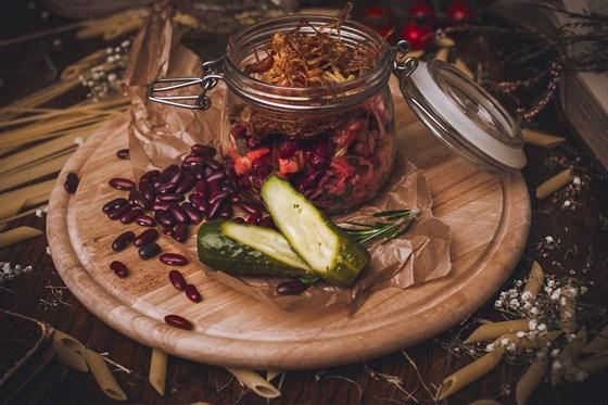 Ресторан Панаехали - фотография 8 - Винегрет с малосольным огурчиком