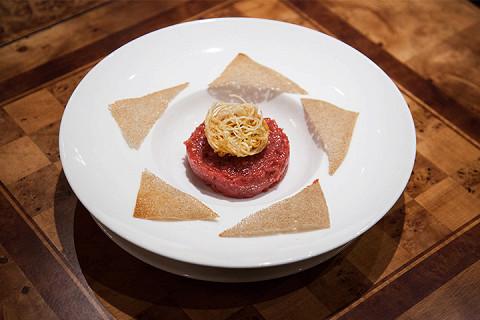 Тартар из говядины из основного меню (540 р.)