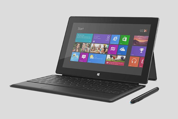 Surface можно использовать и как легкий ноутбук, и как — отстегнув клавиатуру — планшет