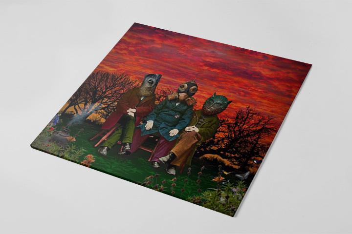 Борис Гребенщиков опубликовал обложку альбома супергруппы «Террариум» «3=8»
