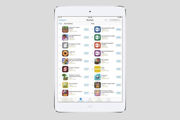 Офисные приложения Microsoft в топе App Store сразу после запуска