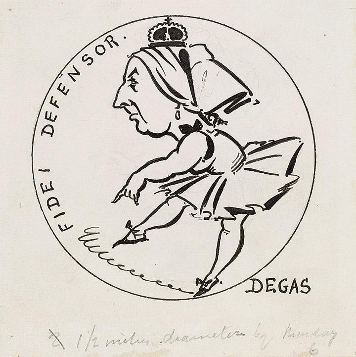 Обри Бердслей. Защитница веры (Fidei defensor), 1893