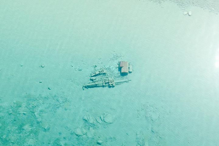Фото кораблей на дне озера Мичиган