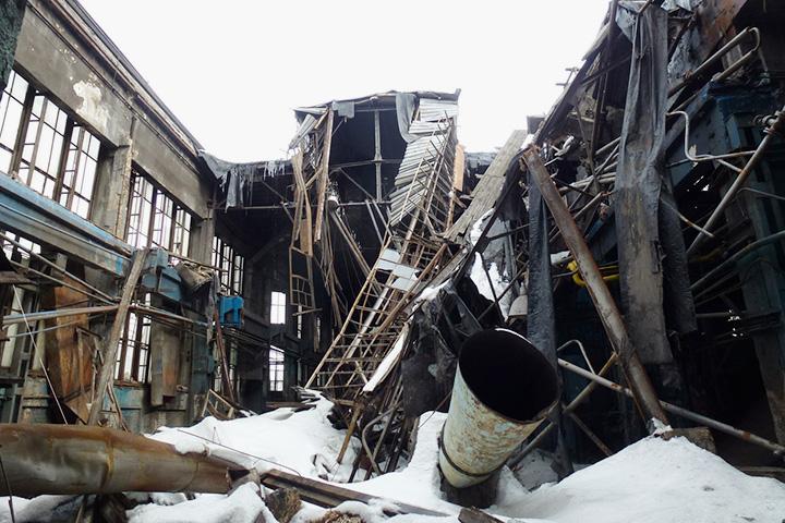 Разрушенный литейный цех