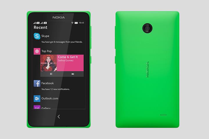Один из телефонов компании Microsoft производства компании Nokia с операционной системой компании Google