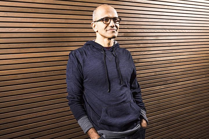 К тому, как выглядит новый глава Microsoft, еще не все успели привыкнуть
