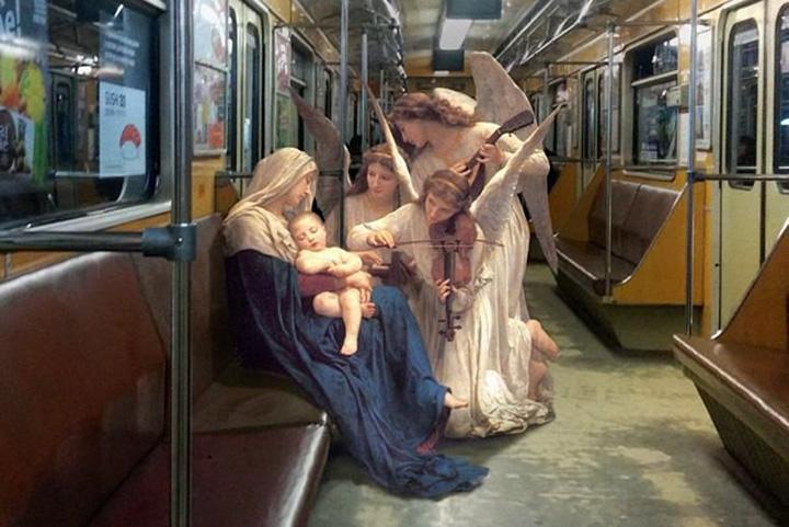 Персонажи эпохи Возрождения в киевском метро