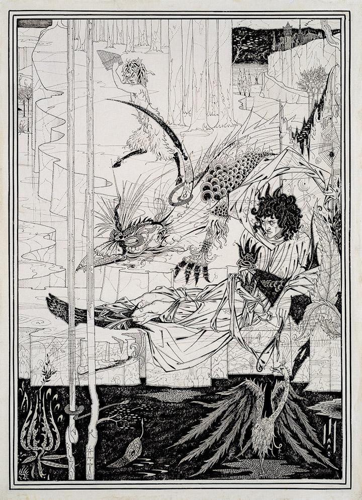 Обри Бердслей. Иллюстрация к изданию «Смерть Артура», 1893–1894