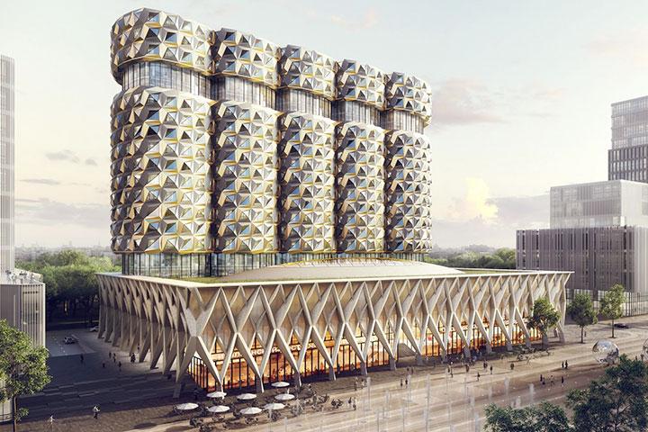 «Башни с позолотой» голландца Ридейка уже успели прозвать «современной архитектурой со стразиками»
