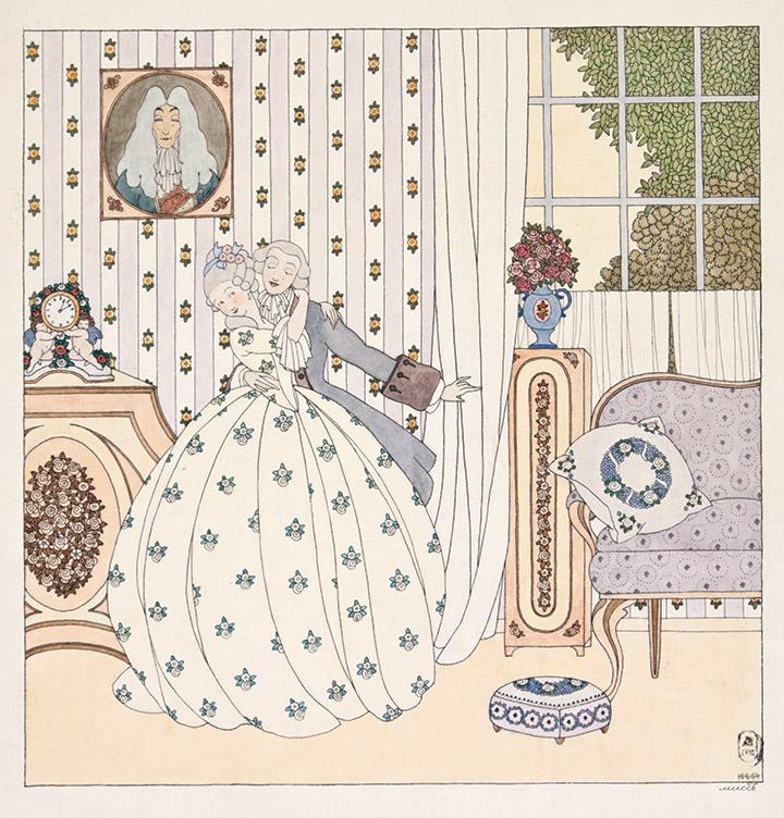 Мисс (Анна Владимировна Ремизова-Васильева). Сцена в комнате, первая половина 1910-х