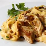 Ресторан Пятница - фотография 2 - Фетучини с белыми грибами