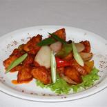 """Ресторан Алтаргана - фотография 6 - Блюдо тибетской кухни """"Курица в кисло-сладком соусе"""""""