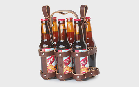 Держатель для бутылок Meriwether Leather Bike Six Pack Carrier