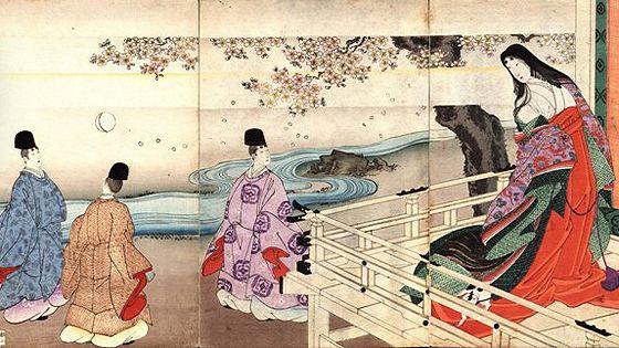 Сквозь ветви сакуры