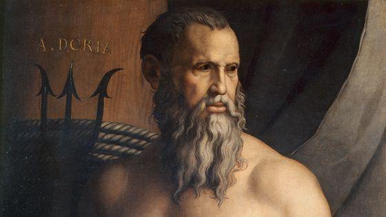 Аньоло Бронзино. Портрет Андреа Дориа в образе Нептуна