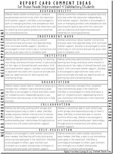 Best 25+ Report cards ideas on Pinterest Report card comments - performance improvement template
