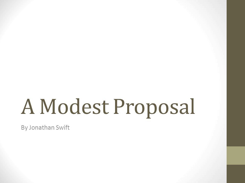 A modest proposal thesis