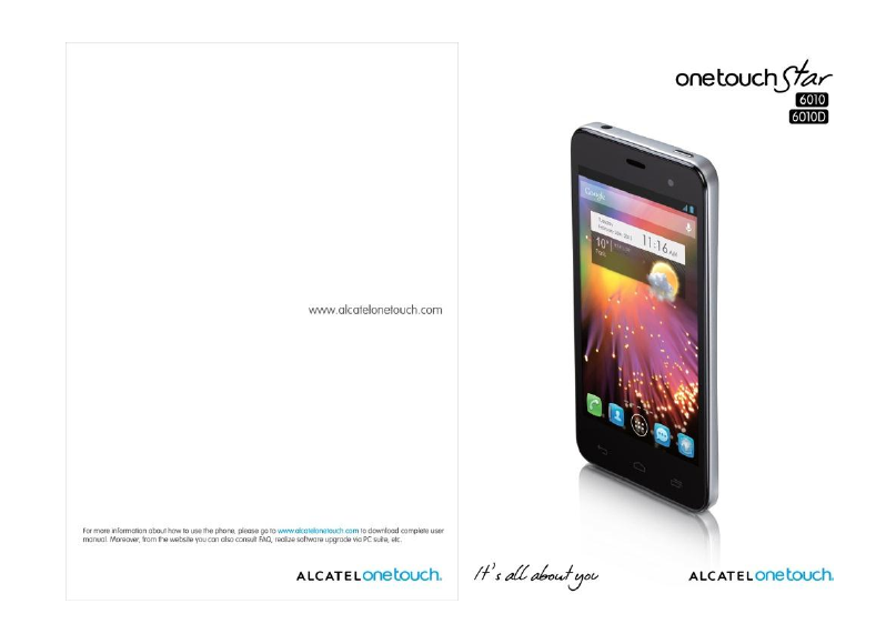 Alcatel one touch handleiding